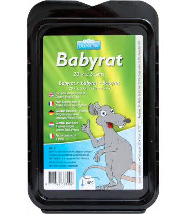 20.25€ le pack de 20 bébés rats pour serpent, boa constricteur, serpent des blés